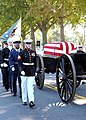 US Navy 071031-N-5215E-036 Pallbearers escort the caisson during funeral procession for former Chairman of the Joint Chiefs of Staff, Adm. William J. Crowe, at the U.S. Naval Academy Cemetery.jpg