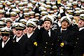 US Navy 081206-N-5549O-427 U.S. Naval Academy Midshipmen cheer during the start of the second half of the 109th Army-Navy college football game at Lincoln Financial Field in Philadelphia.jpg