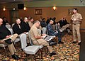 US Navy 091207-N-2013O-017 Vice Adm. Mark E. Ferguson III, chief of naval personnel, speaks to command master chiefs and senior enlisted advisors from Fleet Activities Yokosuka.jpg