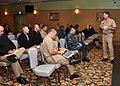 US Navy 091207-N-2013O-017 Vice Adm. Mark E. Ferguson III, chief of naval personnel, speaks to command master chiefs and senior enlisted advisors from Fleet Activities Yokosuka.jpg
