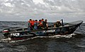 US Navy 100615-N-4971L-126 Sailors deployed aboard High Speed Vessel Swift (HSV 2) and members of the Nicaraguan navy conduct visit, board, search and seizure subject matter expert exchange operations.jpg