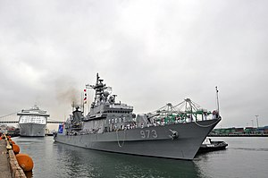 US Navy 100725-N-8951S-016 The Republic of Korea destroyer ROKS Yangmanchoon (DDH 973) prepares to dock at the Port of Los Angeles.jpg