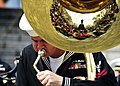 US Navy 110406-N-RO948-149 Musician 2nd Class Eric Cavender plays the tuba as the U.S. 7th Fleet Band performs at a city park while on tour in the.jpg