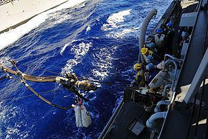 US Navy 120212-N-ED900-671 Sailors aboard the guided-missile destroyer USS Pinckney (DDG 91) wait for the fueling probe to reach station during a r.jpg