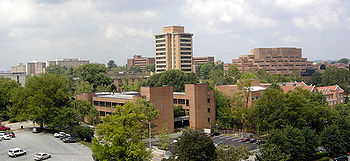 Central view of the UT campus.