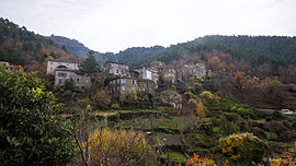 A view of Saliceto from the road to Gavignano