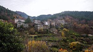 Saliceto, Haute-Corse - A view of Saliceto from the road to Gavignano