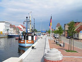 Le port d'Ueckermünde.