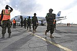 Ugandan troops arrive at Mogadishu Airport on Int'Air Îles Airbus A320 (ZS-GAS) (3).jpg