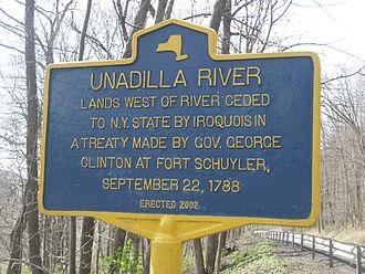 Unadilla River - Historic marker of the Unadilla River