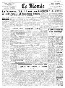 Traité d'alliance entre la France et l'URSS — Wikipédia