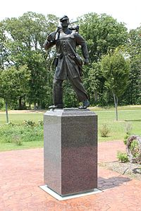 United States Colored Troops Memorial Statue in Lexington Park, Maryland, front view..jpg