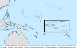 Map of the change to the United States in the Pacific Ocean on July 12, 1979