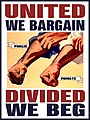 United We Bargain Divided We Beg Two Forearms in Unison By DonkeyHotey.jpg
