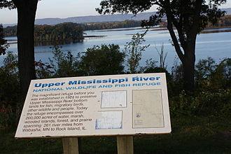 Upper Mississippi River National Wildlife and Fish Refuge - Sign