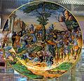 Urbino, bottega fontana, piatto con continenza di scipione, 1560 ca. (da stampa di scuola di marcantonio raimondi).JPG
