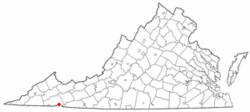 Location of Damascus, Virginia