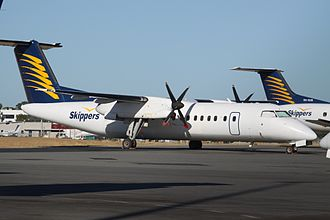 Skippers Aviation - An Dash 8-300 at Perth Airport in 2012