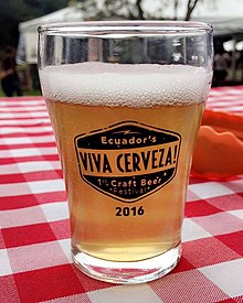Sample Beer Glass from VIVA Cerveza! Craft Beer Festival 2016