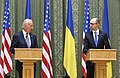 VP Biden and PM Yatsenyuk, Joint Statement, Kyiv, Ukriane, April 22, 2014 (13977933741).jpg