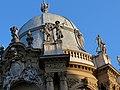 Vajdahunyad castle, Baroque wing dome, allegorical statues, Budapest (354) (13227822713).jpg