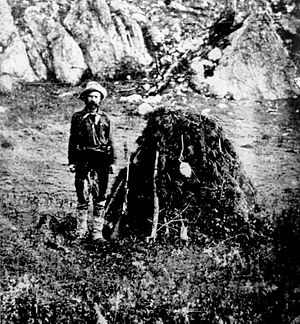 American Horse (elder) - Dr. McGillycuddy at Slim Buttes. He worked futilely to save the life of Chief American Horse.