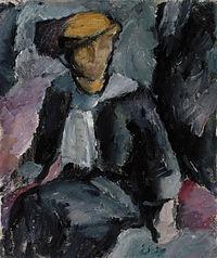 Valle Rosenberg sittande dam 1913 02.jpg
