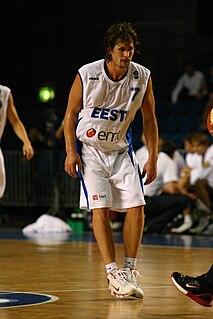 Valmo Kriisa Estonian basketball player