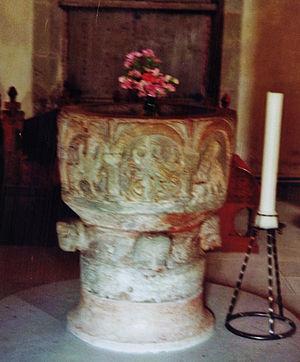Byzantios - Image: Vamlingbo kyrka Gotland 2010 05 dopfunt