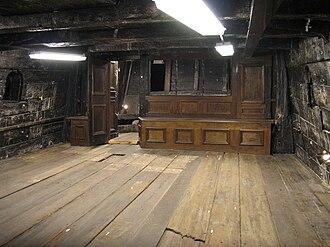Cabin (ship) - Interior of the great cabin of the 17th century Swedish warship Vasa.