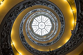 Vatican Museums Spiral Staircase Looking Up 2012.jpg