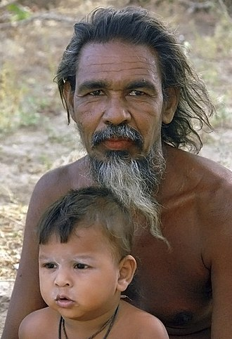 Vedda - Image: Vedda man and child, Sri Lanka