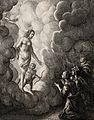 Venus and Cupid descend from the clouds towards a couple kne Wellcome V0023039.jpg