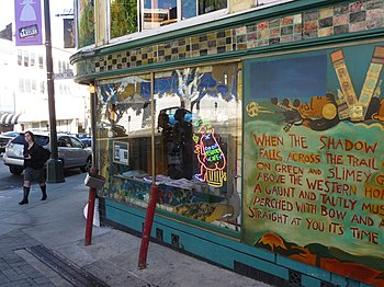 Mural outside Vesuvio Cafe in North Beach