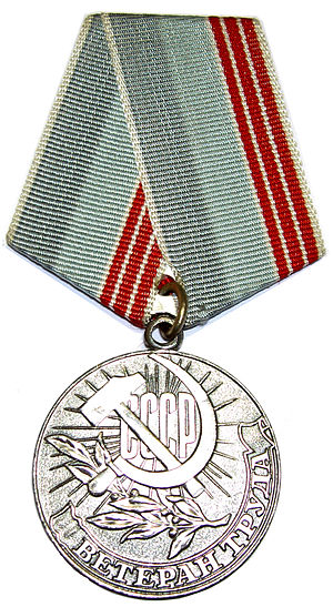 "Medal ""Veteran of Labour"" cover"