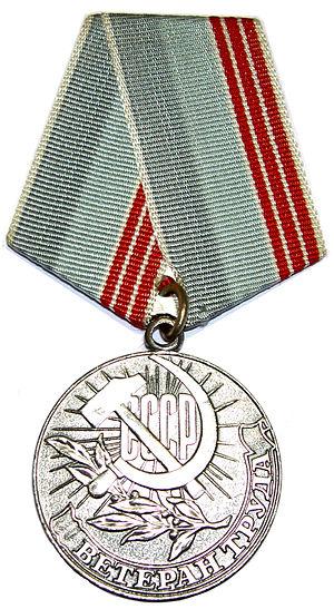 "Medal ""Veteran of Labour"" cover"