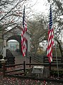 Veterans Day Flags at Eagle Point Covered Bridge - Heather Gaona (11409290026).jpg