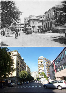 Via Morghen nell'anteguerra e nel 2008