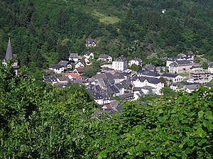 Vianden - Vianden from above