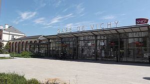 Vichy - Railway station in May 2011.