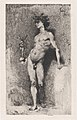 Victory- a naked youth standing facing left holding a statue of winged Victory in his right hand MET DP876119.jpg
