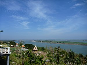 Kampong Cham Province - View of Kampong Cham from Han Chey Temple