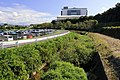 View of Hontoku-gawa River from the Top of Nishiyama-bashi Bridge, Kamekubi-cho Toyota 2019.jpg