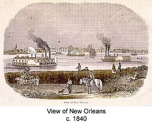 Jennie Carter - View of New Orleans 1840