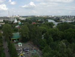 View of Oryol city from the Ferris wheel