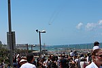 Viewing the Air Force Fly By on Tel Aviv Beach 2019 IMG 3690.JPG