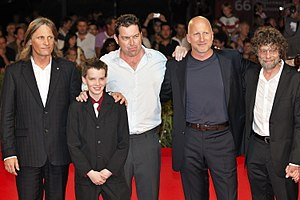 Kodi Smit-McPhee - Viggo Mortensen, Smit-McPhee, Joe Penhall, John Hillcoat, and Steve Schwartz at the 2009 premiere of The Road.
