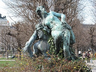 Triton (mythology) - Triton and Nymphe fountain by Viktor Tilgner in the Volksgarten (Vienna)