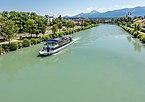 Villach Drau mit Schiff Landskron NW-Ansicht 02072018 3756.jpg