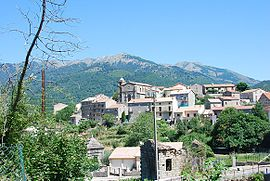 A view of the village of Cozzano
